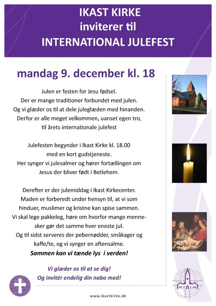 invitation til Julefest Ikast Kirke Mandag d. 9. december kl 18.00